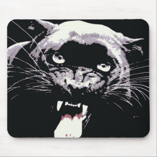 Black Jaguar Panther Mouse Pad