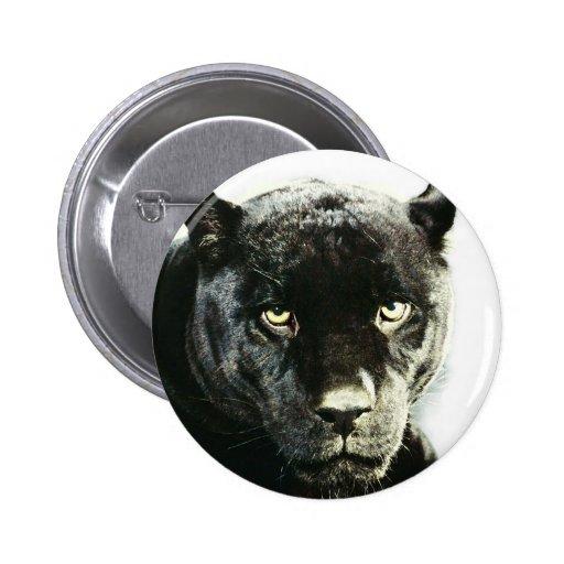 Black Jaguar Panther Pinback Button