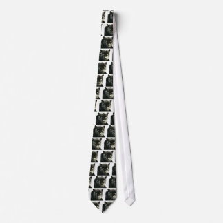 Black Jaguar Panther Tie