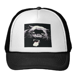 Black Jaguar Panther Trucker Hat
