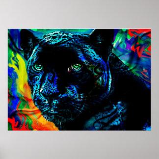 Black Jaguar Poster