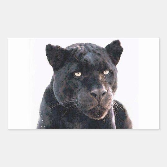 Black Jaguar Rectangle Stickers