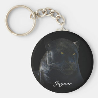 Black Jaguar Wild Cat Animal-Lover Keychain