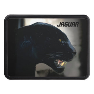 Black Jaguar Wild Cat Artwork Trailer Hitch Cover