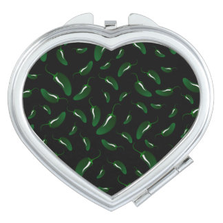 Black jalapeno peppers pattern mirror for makeup