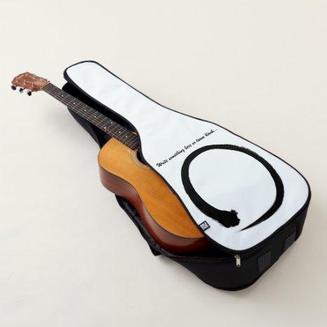 Black Japanese zen circle or enso circle Guitar Case
