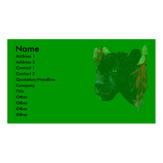 Black Jaquar Profile Card Double-Sided Standard Business Cards (Pack Of 100)