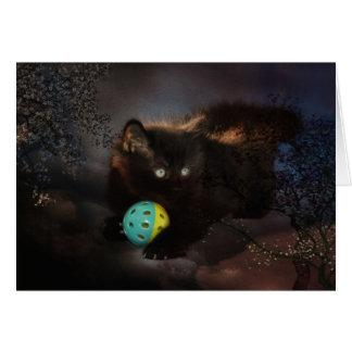 Black  Jellybean Greeting Card