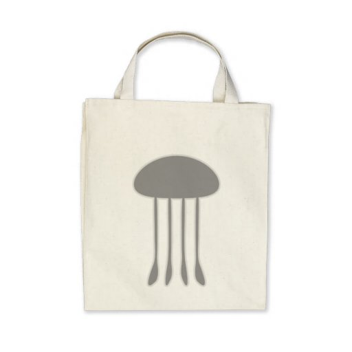 Black Jellyfish Canvas Bags