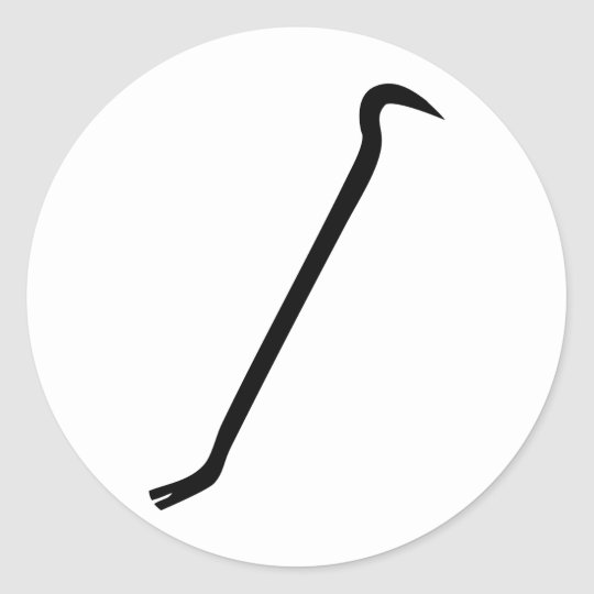 black jemmy icon classic round sticker