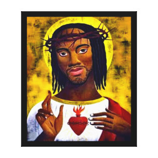Black Jesus Canvas Print