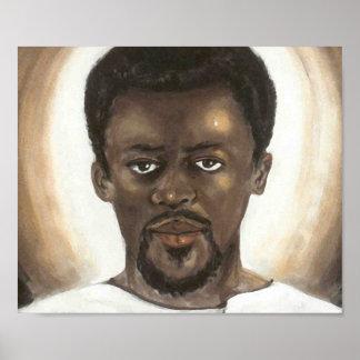 Black Jesus Face Poster