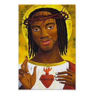 Black Jesus Portrait Poster