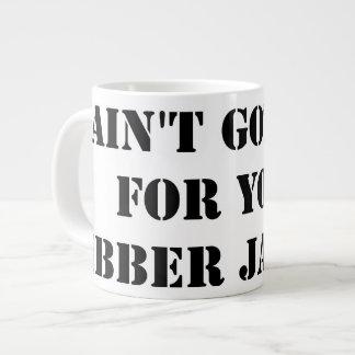 Black Jibber Jabber Large Coffee Mug