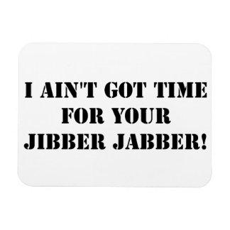 Black Jibber Jabber Rectangular Photo Magnet