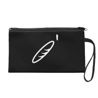 Black Joint Bag with Wrist Strap