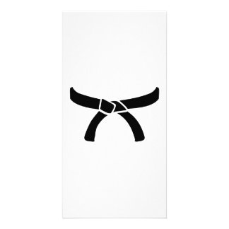 Black judo belt card