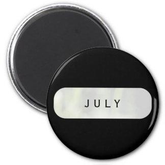 Black July Round Magnet by Janz
