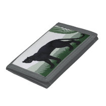 Black Jungle Panther TriFold Nylon Wallet