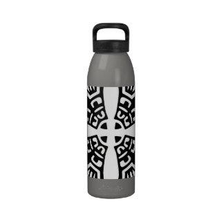 Black Kaleidoscope Drinking Bottles