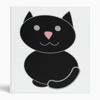 Black Kawaii Cat Binder