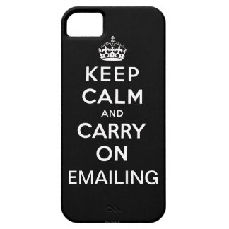 Black Keep Calm and Carry On Emailing iPhone 5 iPhone SE/5/5s Case
