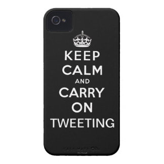 Black Keep Calm and Carry On Tweeting iPhone 4 iPhone 4 Cover