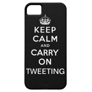 Black Keep Calm and Carry On Tweeting iPhone 5 iPhone 5 Cases