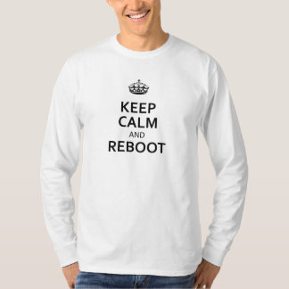 Black Keep Calm and Reboot T-Shirt