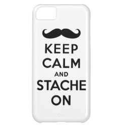 Case-Mate Barely There iPhone 5C Case with Keep Calm and Stach On design