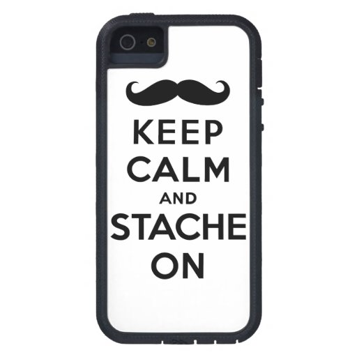 Black keep calm and stache on iPhone 5 case