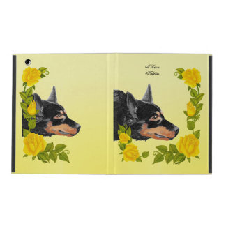 Black Kelpies and Yellow Roses iPad Cover