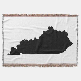 Black Kentucky Shape Throw Blanket