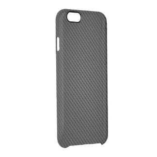 Black Kevlar para-aramid synthetic fiber Texture Uncommon Clearly™ Deflector iPhone 6 Case