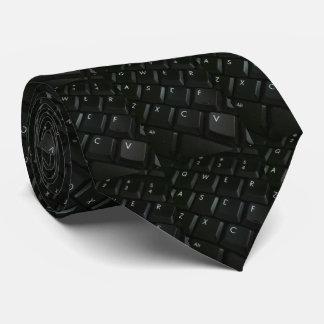 Black-Keyboard Geek Neck Tie