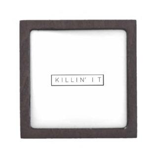Black Killing It Letters Print Killin' It Keepsake Box