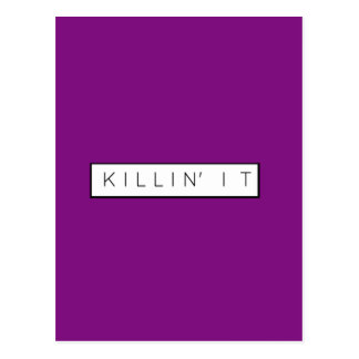 Black Killing It Letters Print Killin' It Postcard