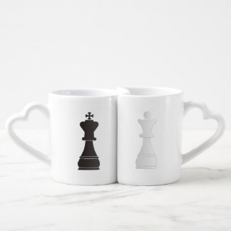 Black king and white Queen love mug