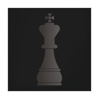 Black king chess piece canvas print