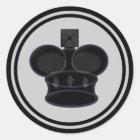 Black King Chess Piece Classic Round Sticker