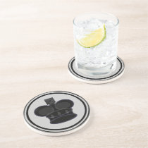 Black King Chess Piece Drink Coaster
