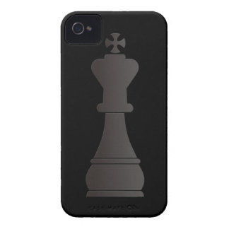 Black king chess piece iPhone 4 Case-Mate case
