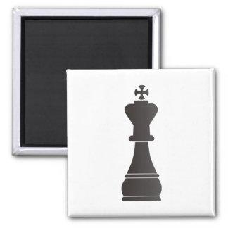 Black king chess piece magnet