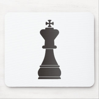 Black king chess piece mouse pads