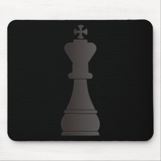 Black king chess piece mousepads