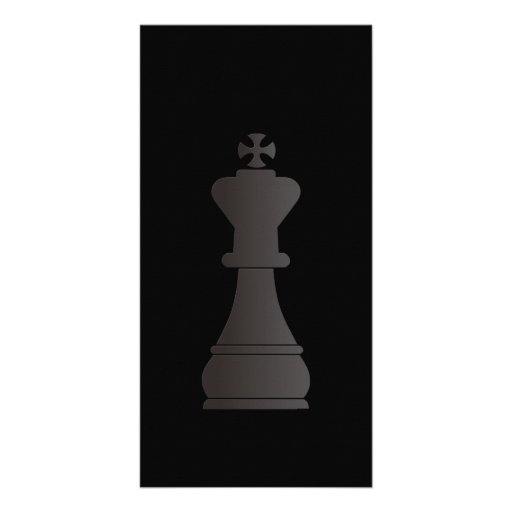 Black king chess piece picture card