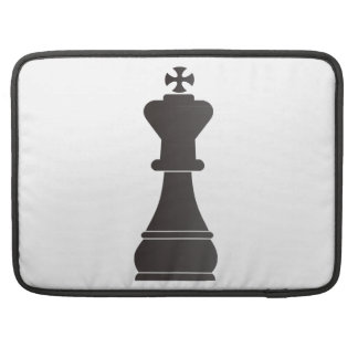 Black king chess piece sleeves for MacBooks