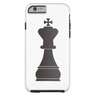 Black king chess piece tough iPhone 6 case