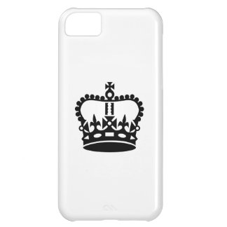 Black king crown cover for iPhone 5C