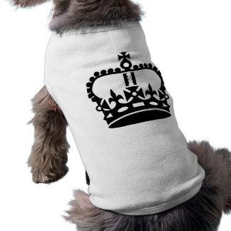 Black king crown dog tee shirt
